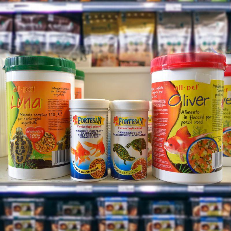 prodotti per tartarughe e pesci Molino Ballesio Torino