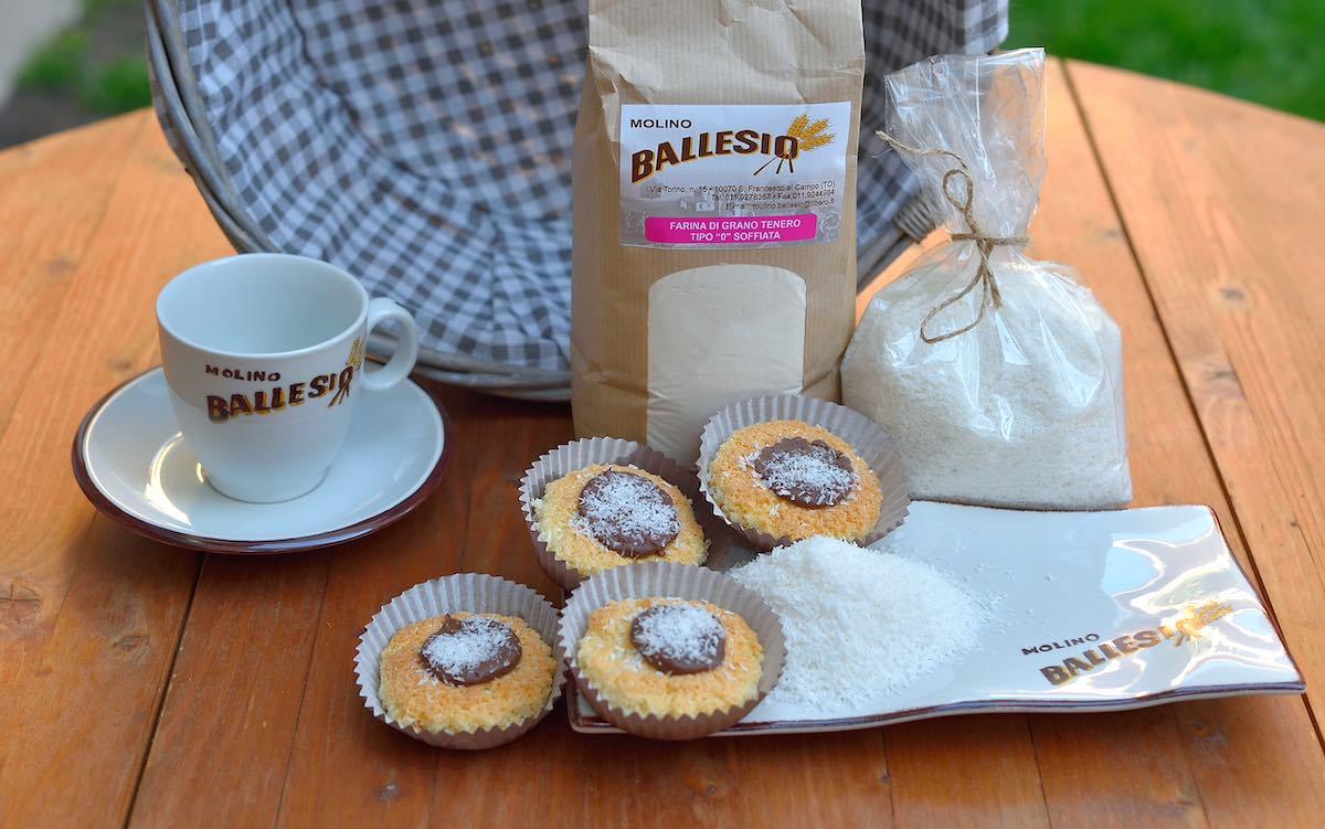 tortina al cocco e nutella proposta dal Molino Ballesio Torino