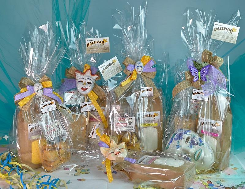 idee regalo di Carnevale con bigie e farina del Molino Ballesio